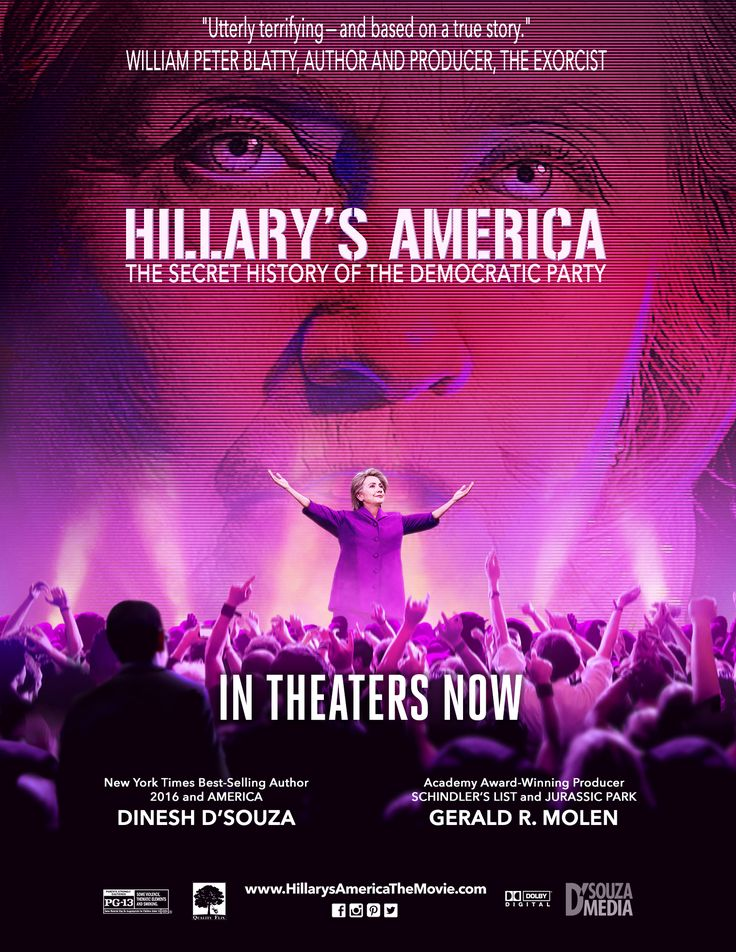 Hillary's America: The Secret History Of The Democratic Party - In his shocking new film, Dinesh D'Souza exposes the secret history of the Democrats and the true motivations of Hillary before the election this year. In theaters nationwide now!