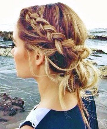 Peachy 1000 Ideas About Easy Braided Hairstyles On Pinterest Types Of Hairstyles For Men Maxibearus