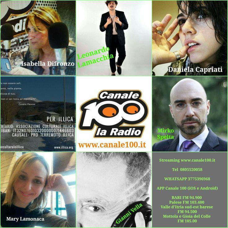 Domani ore 10.00  Streaming www.canale100.it  Tel 0805520058  WHATSAPP 3775396968  APP Canale 100 (iOS e Android)  BARI FM 94.900  Palese FM 103.400  Valle d'Itria sud-est barese  FM 94.500 Mottola e Gioia del Colle  FM 105.00