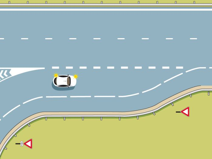 Voie d'accélération : elle permet de prendre de l'élan pour s'insérer dans la circulation d'une autoroute ou d'une route express.