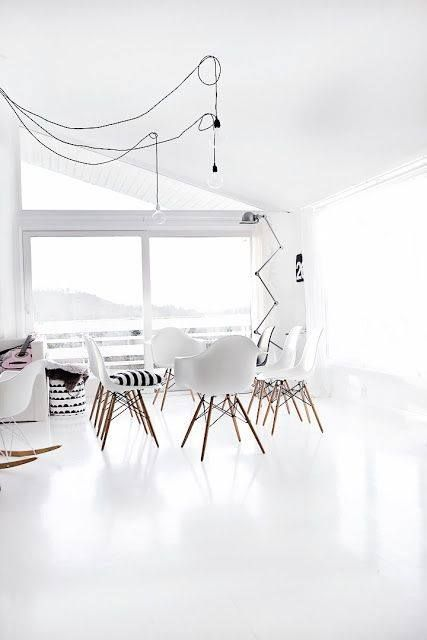 The design chaser white flooring