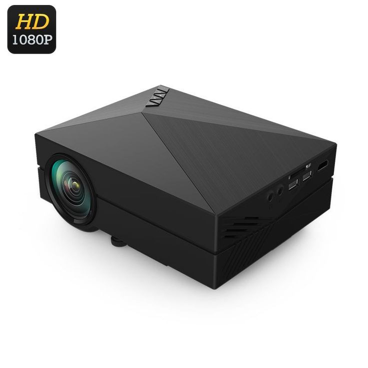 Portable Mini LCD Projector - 80 Lumen 1000:1 Contrast Supports 1080p 130 Inch Image HDMI SD Card