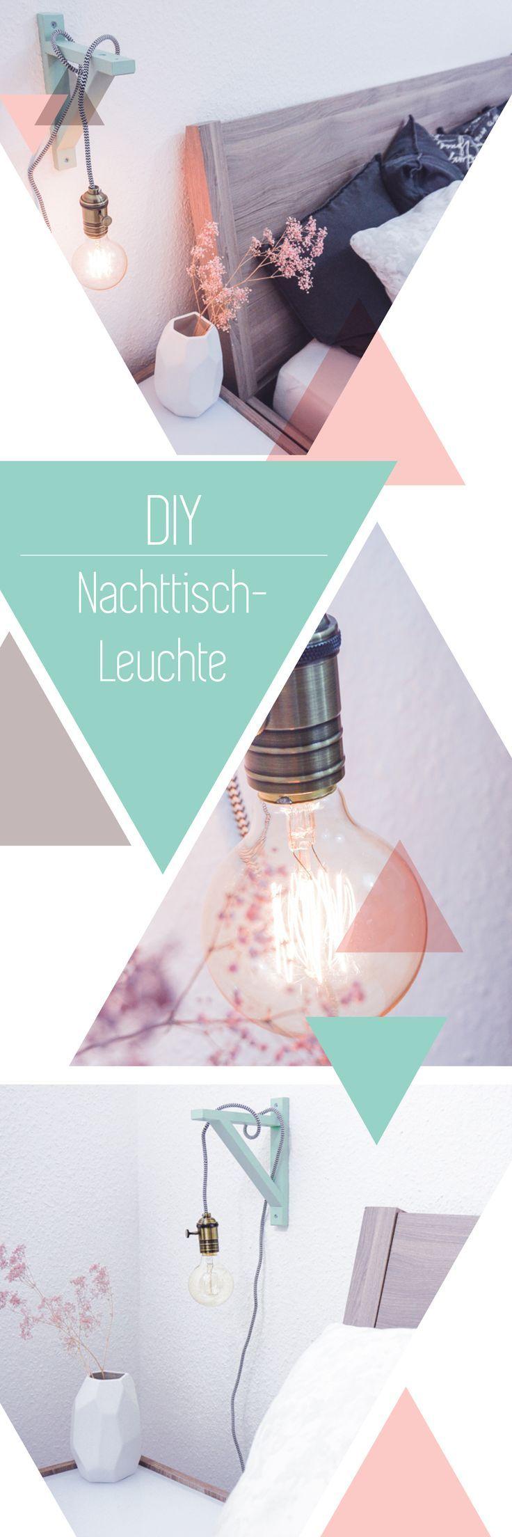 diy lampe mit holzrahmen textilkabel und gl hbirne sch nes licht im vintage stil inspiration. Black Bedroom Furniture Sets. Home Design Ideas
