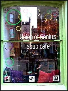 Edinburgh premier Soup Cafe, Union of Genius