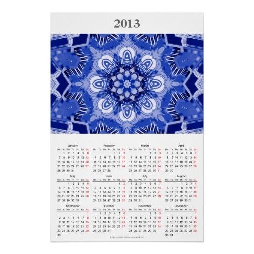 2013 Calendar Kaleidoscope Poster