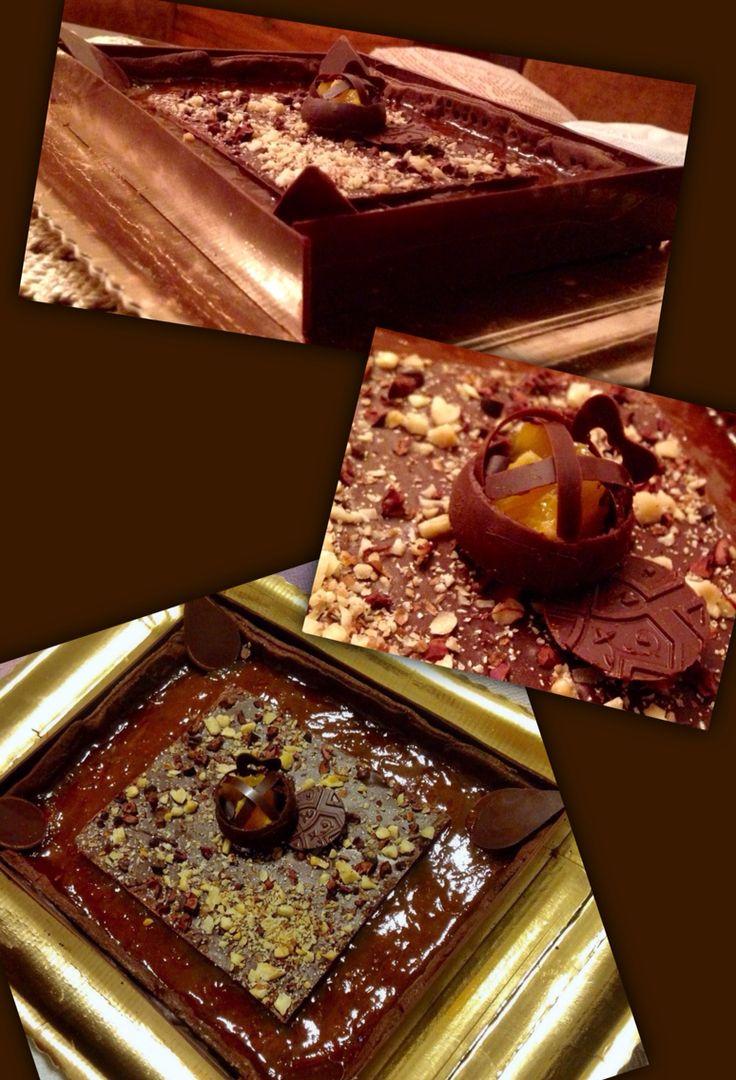 ❤️Frolla al cacao, composta arancio-cannella, croccante al cioccolato con noci e fave di cacao tostate  ❤️
