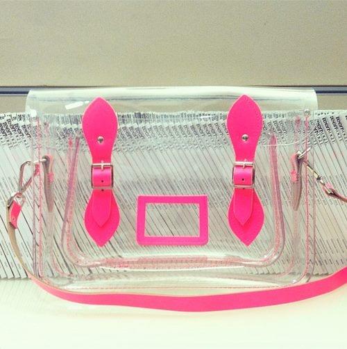 transparent Cambridge satchel bag