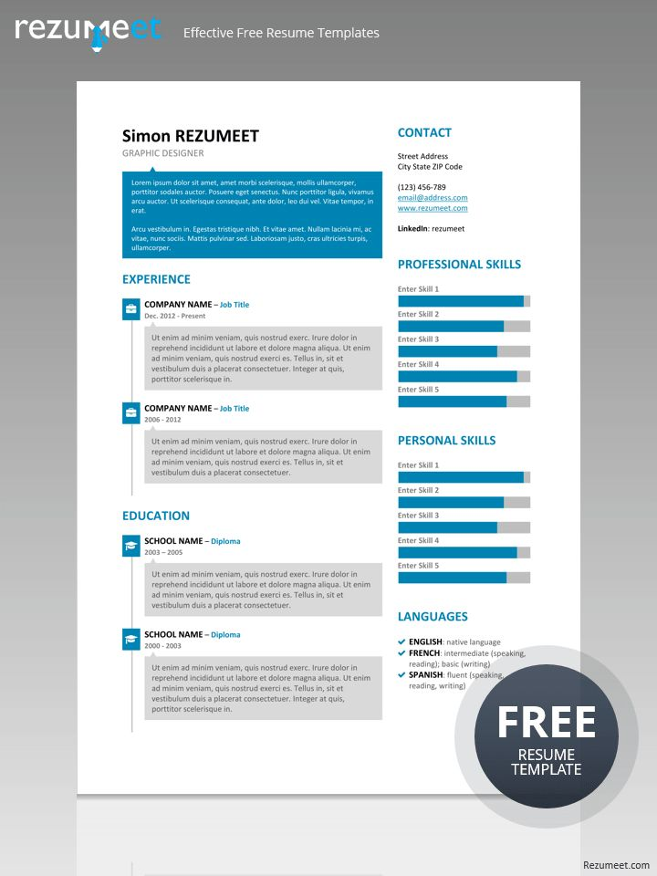 26 Best Modern & Creative Resume Templates Images On Pinterest