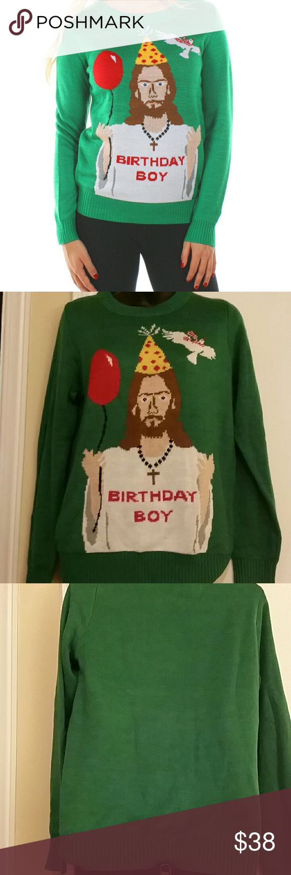 "TIPSY ELVES sweater A Tipsy Elves "" Birthday Boy "" sweater. tipsy elves  Sweaters Crew & Scoop Necks"