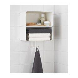 IKEA - BRICKAN, Étagère murale, , Deux fonctions en un produit : un rangement pour les serviettes propres et un crochet pour celle que vous…