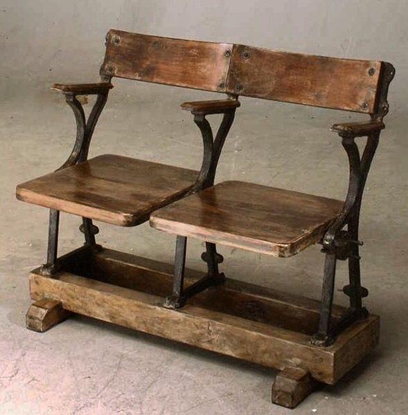 Antique stadium chairs.