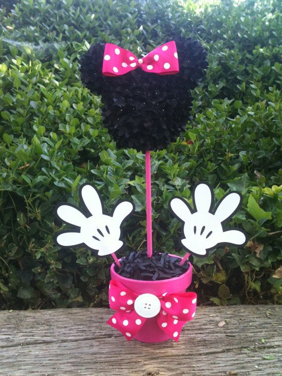 Minnie Mouse Centerpiece Minnie Mouse Party by MyCraftySides, $25.00