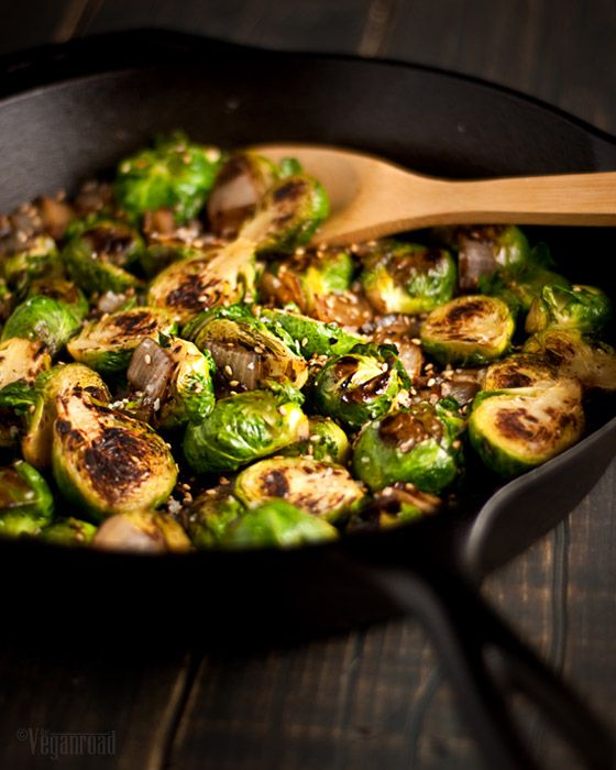 Caramelized Brussels Sprouts & Onions