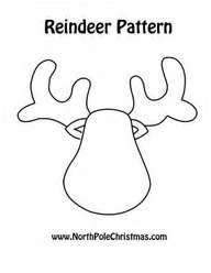 Reindeer head template