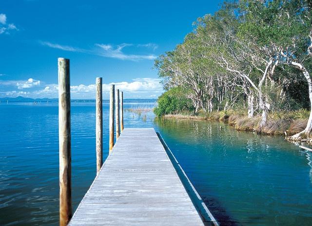 by the lake...Lake Cootharaba, Kinaba Island - Noosa Australia