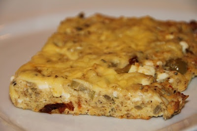 LCHF Italian Foccacia - great for breakfast or with a soup for example. Recipe here: http://www.lowcarbshighfat.com/2012/02/italian-foccacia-recipe.html