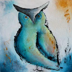 Owl, acrylic on canvas!