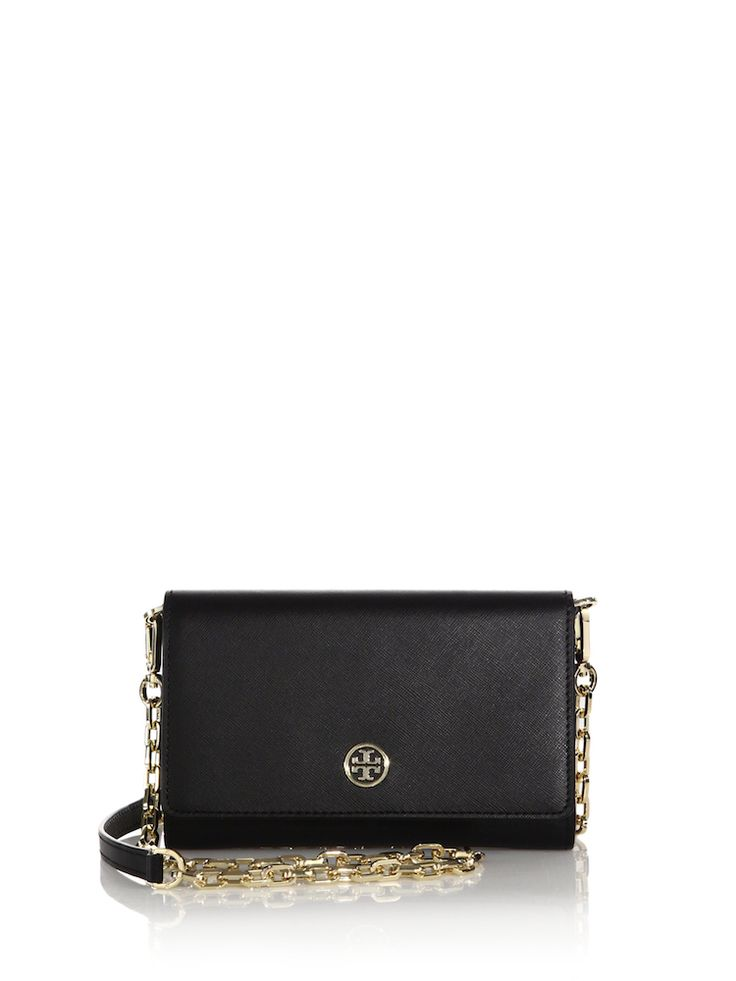 Navy Blue Robinson Saffiano Chain Wallet