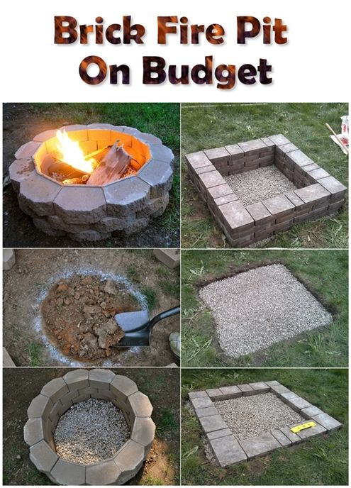brick fire pit - Patio Ideas With Fire Pit On A Budget