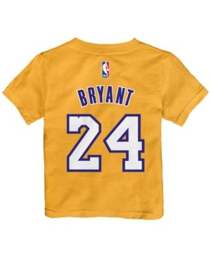 adidas Toddlers' Kobe Bryant Los Angeles Lakers Warriors Name And Number T-Shirt - Gold 2T