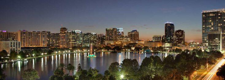 orlando skyline night. orlando city photo skyline night