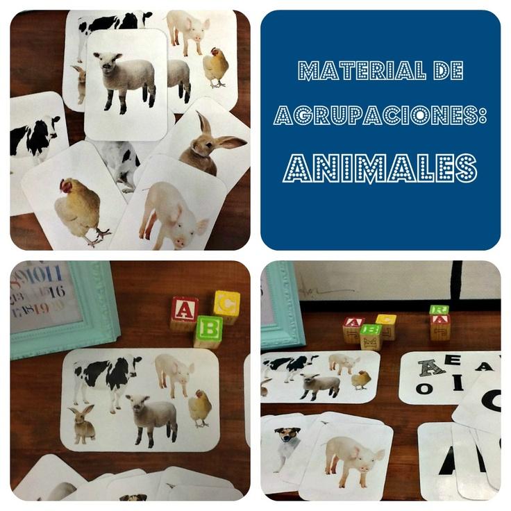 Free printable: Material de aprendizaje (Animales de la Granja).
