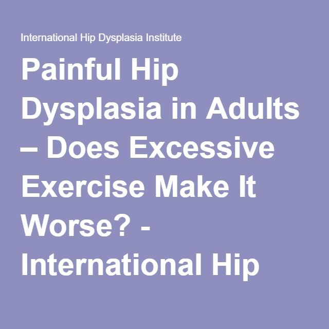 Treatment of hip dysplasia in adults think, that