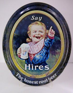 Reproduction Say Hires The Honest Root Beer Tip Tray