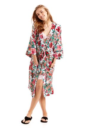 Summer Gown. Eg.Hippy Floral Kimono Gown from Peter Alexander $99