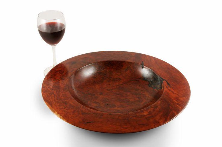 Turned Flat-Edge Redgum Burl Bowl   Australian Woodwork   Australian Woodwork