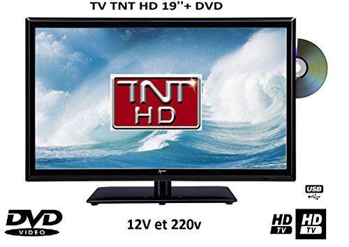 Télévision HD LED pour camping car + dvd intégré #description# Ce téléviseur LED de 44cm de longueur et d'une résolution de 1366×768 propose une remarquable qualité d'image Haute D…