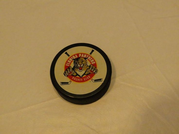 Florida Panthers NHL Hockey puck 1995 Season tickets club official made in Czech