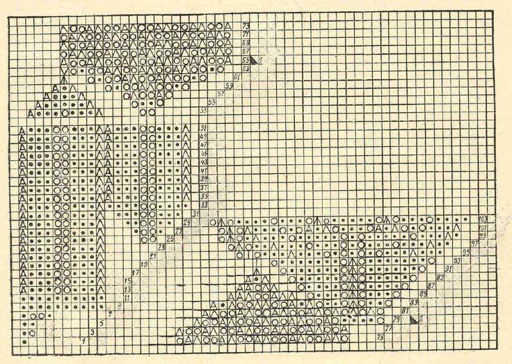 Скатерть 4 - схема. Э.Критеску 'Художественное вязание спицами'