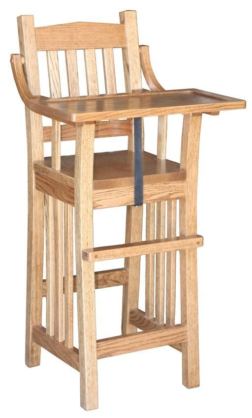 Amish Family Mission Wooden High Chair More Baby Board Dad