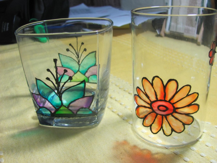 Fevicryl hobby ideas glass colours makes the ordinary look - Creative glass painting ideas ...