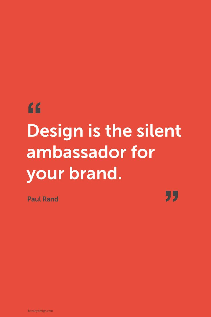 Poster design quotation - Late Designer Paul Rand
