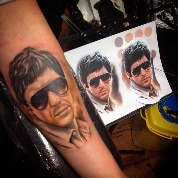 #actor #realistic #portrait #Al-Pacino #color #forearm #tattoo #design #tattooist #artist #Dublin #Ireland