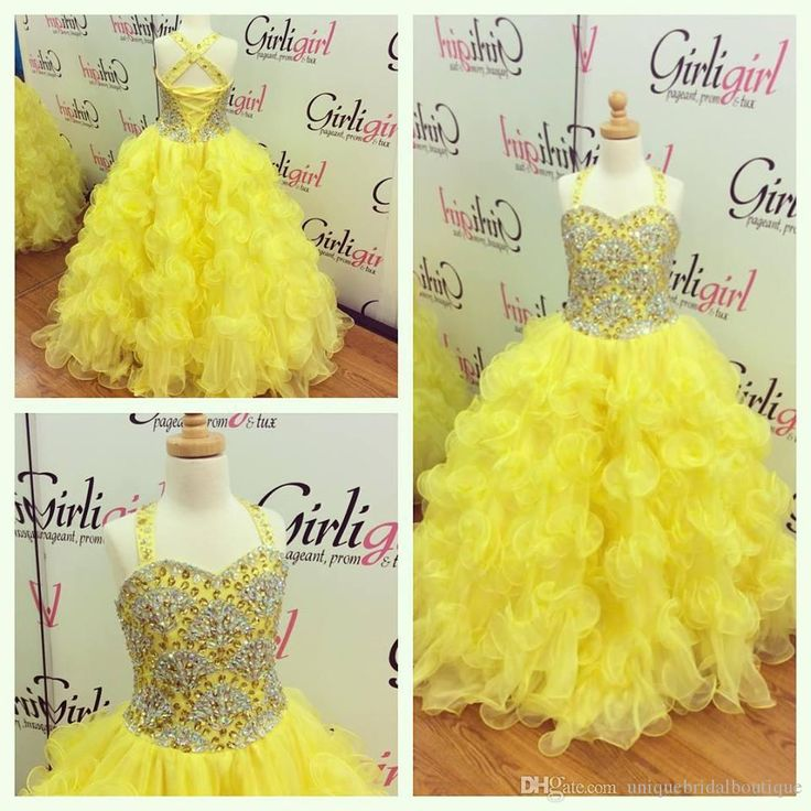 2016 Girls Pageant Dresses Size 14 With Tiered Skirt And Scalloped Beading Bodice Real Photo Ball Gown Yellow Pageant Gowns For Juniors Pageant Resale Dresses Toddler Pageant Dresses Cheap From Uniquebridalboutique, $119.6  Dhgate.Com