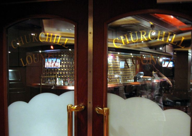 Doors to the cigar bar. Read all about it at:  http://cigarczars.com/cruising-cigars.htm