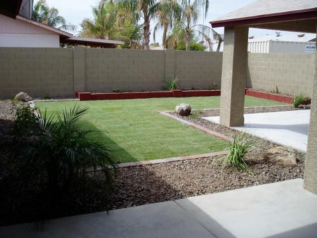 desert landscaping backyard