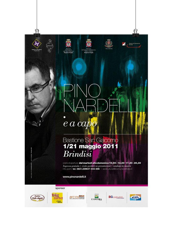 Pino Nardelli .e a capo Personal exhibition of Pino Nardelli Artist