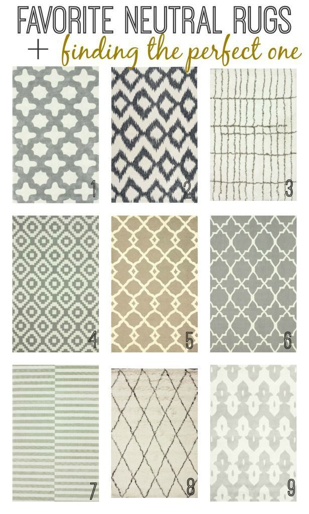 Favorite Neutral Rugs + Finding the perfect one {City Farmhouse}