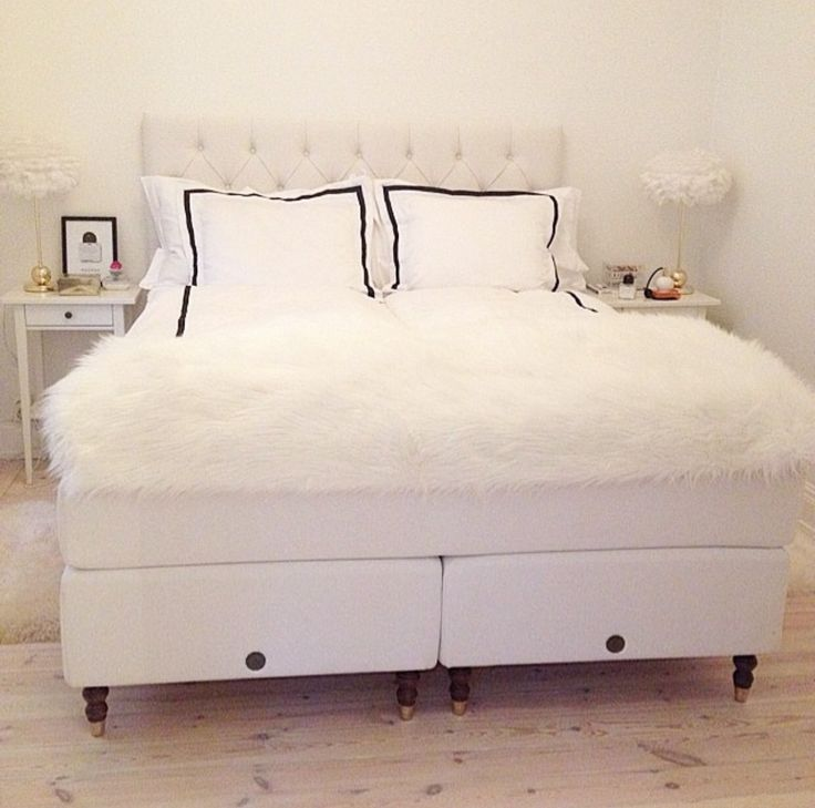 Cosy white bed