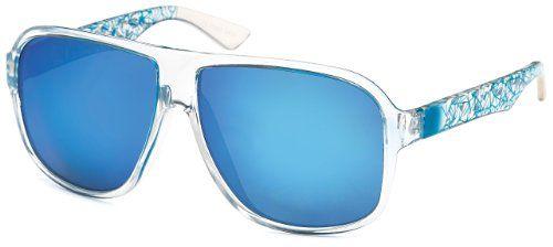 Sonnenbrille blau verspiegelt für Damen und Herren für normal bis breite Kopfform 2013 + Brillenbeutel