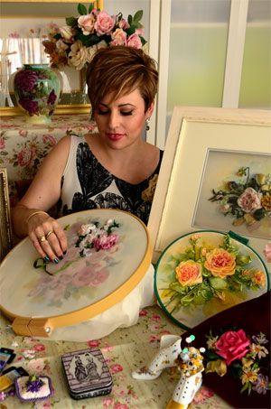 Online Silk Ribbon embroidery classes | Ingrid Creates Online Arts School