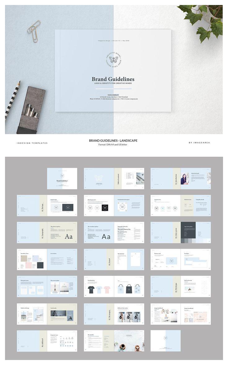 Brand Guidelines Landscape パンフレット デザイン ポートフォリオ 作り方 エディトリアルデザイン
