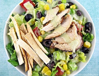 Southwest Chicken Salad with Avocado Lime Dressing by Cinnamon Spice ...