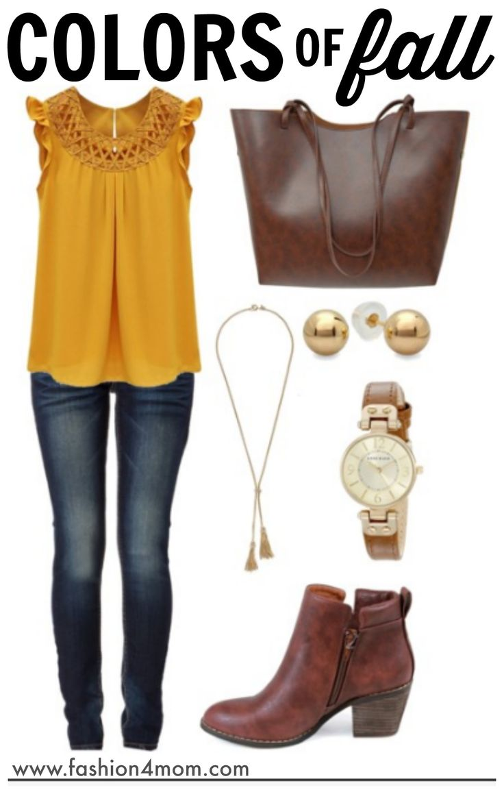 Fall Colors - Fashion For Mom - Budget Friendly Outfits - I LOVE this site!  She puts together the cutest outfits that are super budget friendly!