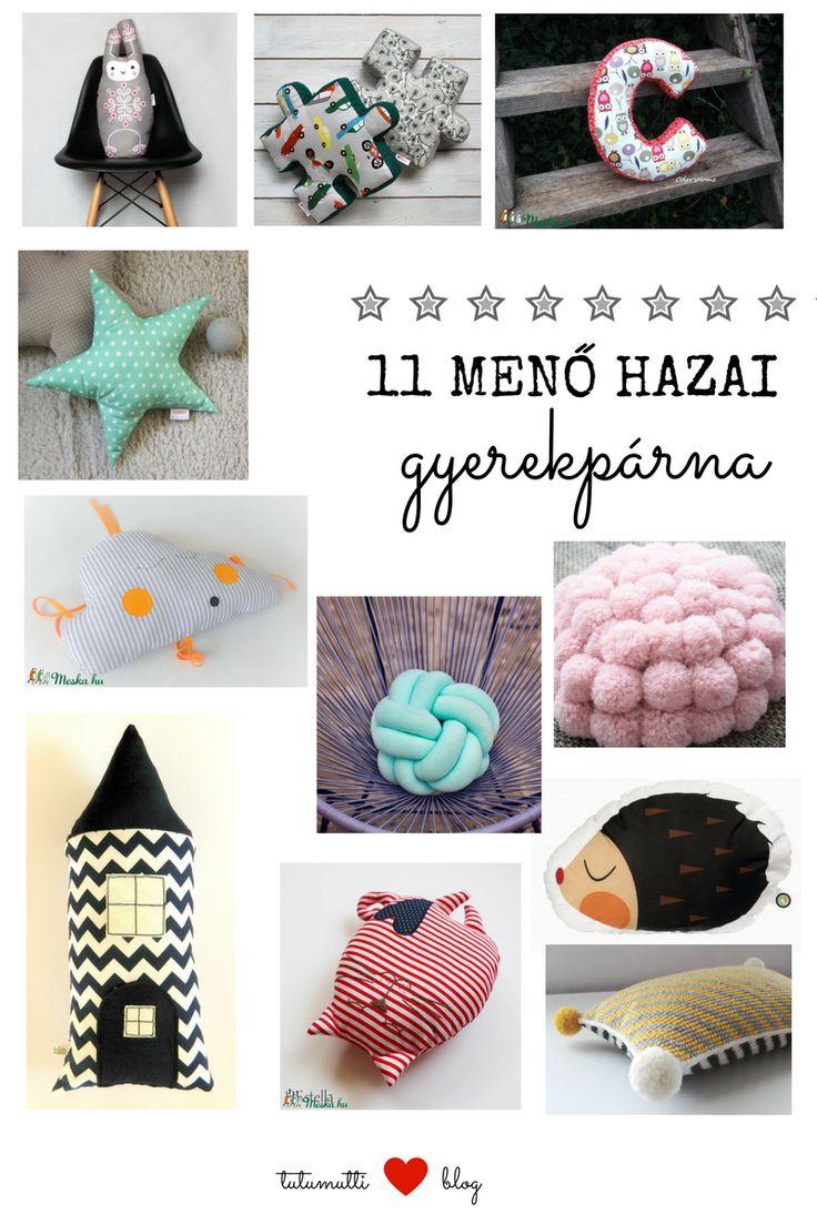 Tutumutti - Gyerekkel kreatívan blog / www.tutumutti.blog.hu / 11 menő hazai gyerekpárna / 11 Hungarian pillows for kids