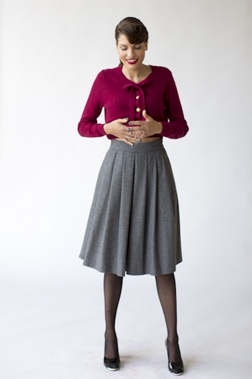 Cardigan and skirt by Maria Westerlind
